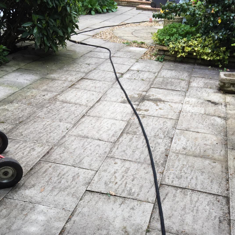 Before Image Patio Cleaning
